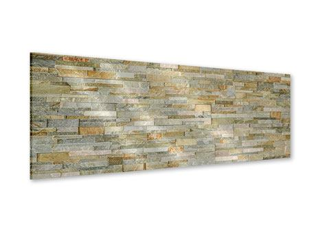 Panoramic Acrylic Print Noble Stone Wall