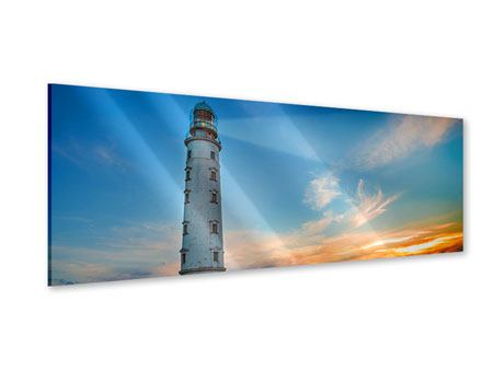 Panoramic Acrylic Print Sunset At The Lighthouse