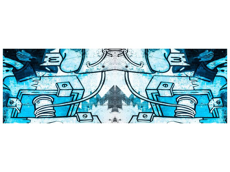 Panoramic Acrylic Print Graffiti