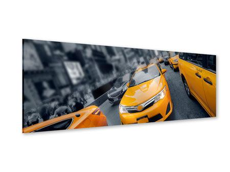 Panoramic Acrylic Print Taxi In NYC