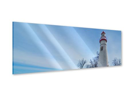 Panoramic Acrylic Print Lighthouse In Snow