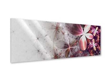 Panoramic Acrylic Print Abstract Floral