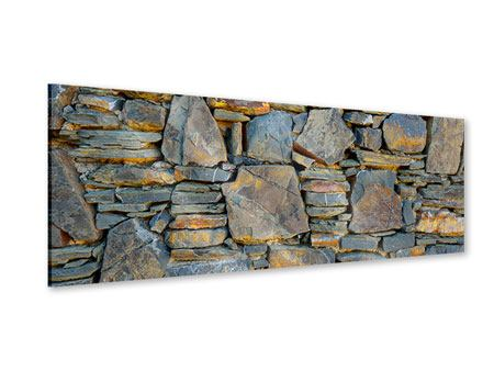 Panoramic Acrylic Print Natural Stone Wall