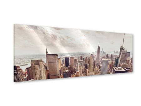 Panoramic Acrylic Print Skyline Over The Roofs Of Manhattan