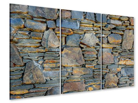 3 Piece Acrylic Print Natural Stone Wall