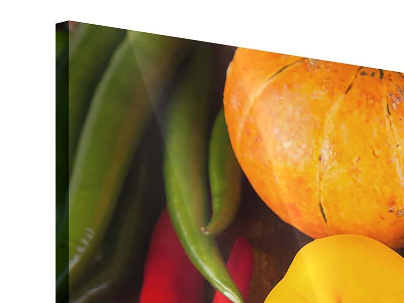 3 Piece Acrylic Print Healthy Vegetables