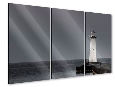 3 Piece Acrylic Print The Lighthouse At Night