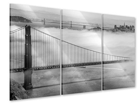 3 Piece Acrylic Print Golden Gate Bridge