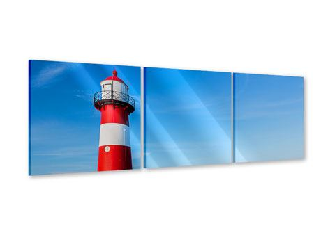 Panoramic 3 Piece Acrylic Print Summer At The Lighthouse