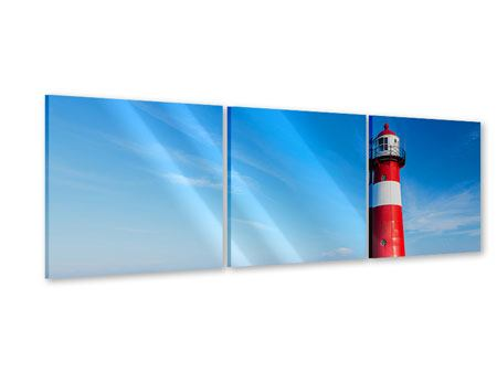 Panoramic 3 Piece Acrylic Print The Lighthouse