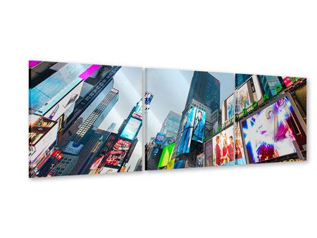 Panoramic 3 Piece Acrylic Print Shopping In NYC
