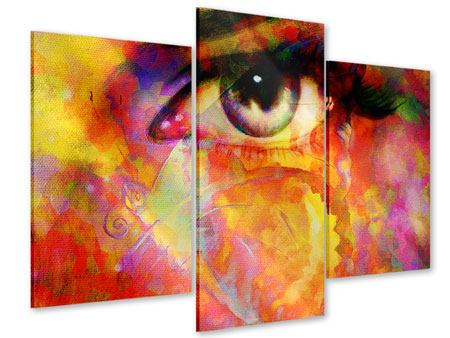 Modern 3 Piece Acrylic Print The Eye