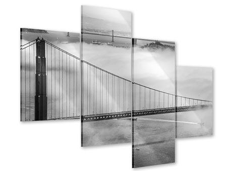 Modern 4 Piece Acrylic Print Golden Gate Bridge