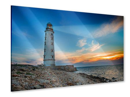 Acrylic Print Sunset At The Lighthouse