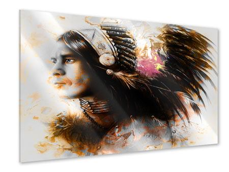 Acrylic Print Artful Indian Portrait