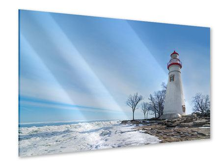 Acrylic Print Lighthouse In Snow