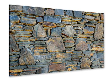 Acrylic Print Natural Stone Wall