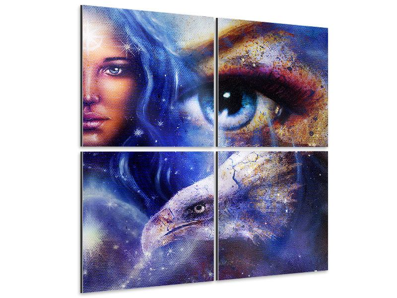4 Piece Aluminium Print Absolute Eyecatcher