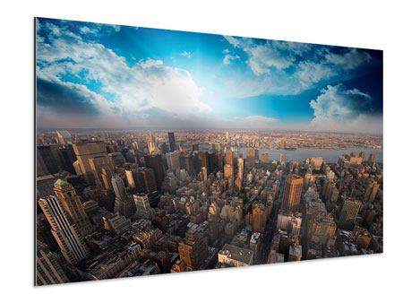 Aluminium Print Skyline Over The Rooftops Of Manhattan