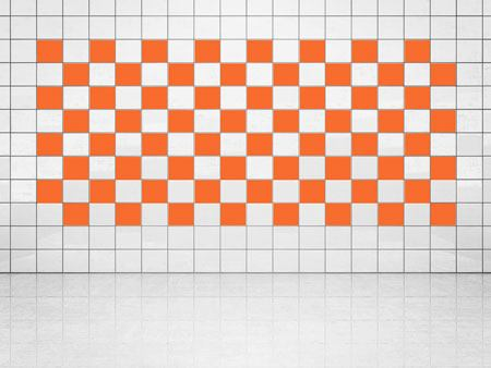 Tile Decor Orange (A705) Set of 20