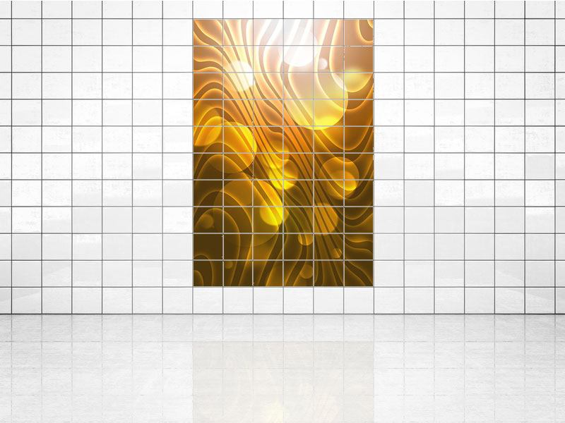Tile Print Abstract Spherical Waves
