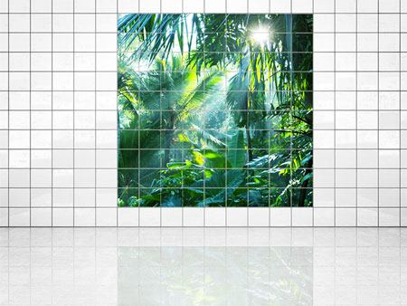Tile Print In Tropical Forest
