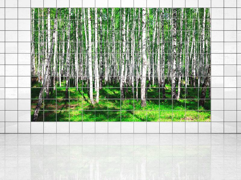 Tile Print Summerly Birch Forest