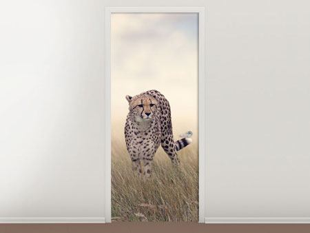 Door Mural The Cheetah
