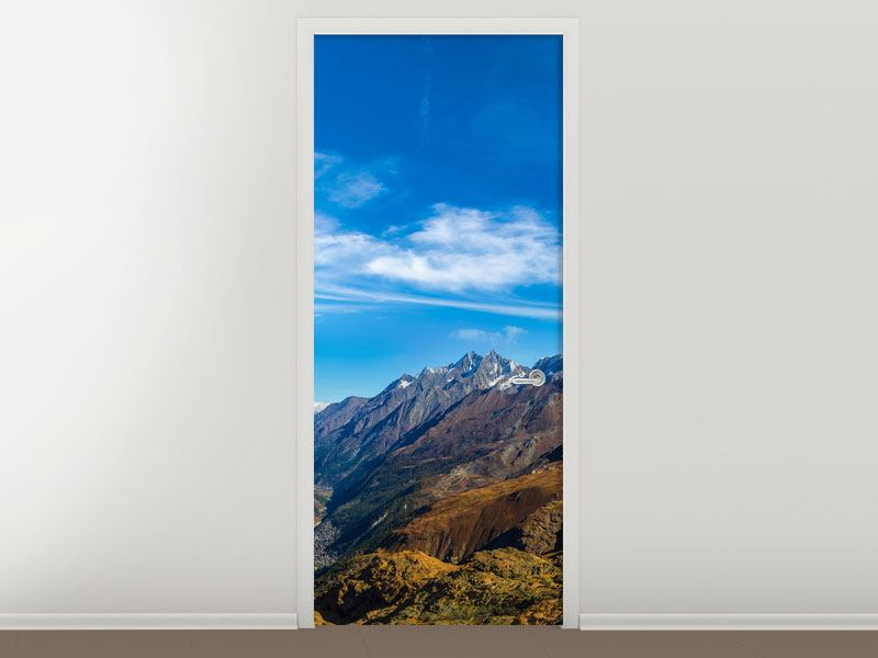 Door Mural Swiss Alps In Spring