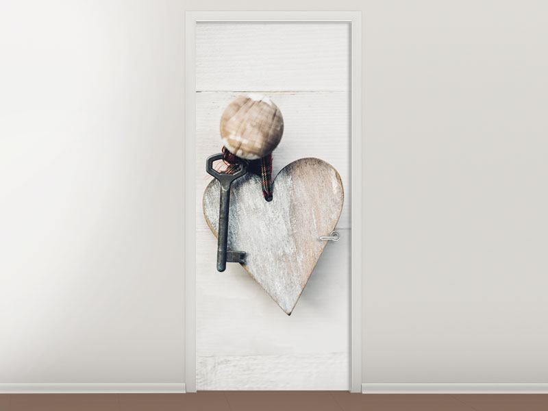 Door Mural Heart Key