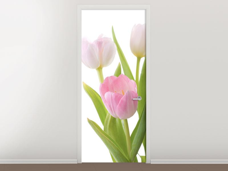 Door Mural The Tulips Trio