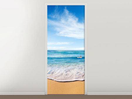 Door Mural Waves In The Sand