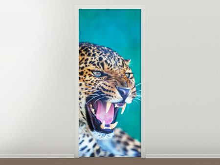 Door Mural Attention Leopard