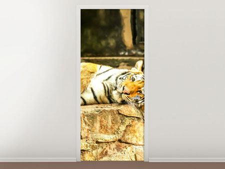 Door Mural The Siberian Tiger