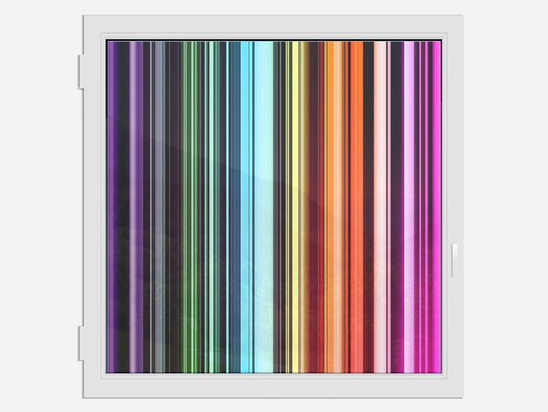 Window Print Colorful Stripes