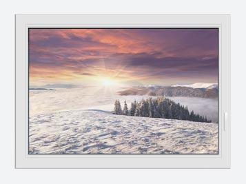 Window Print Sunrise Winter Landscape
