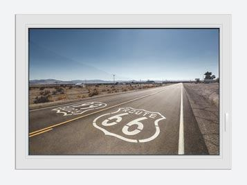 Window Print Route 66