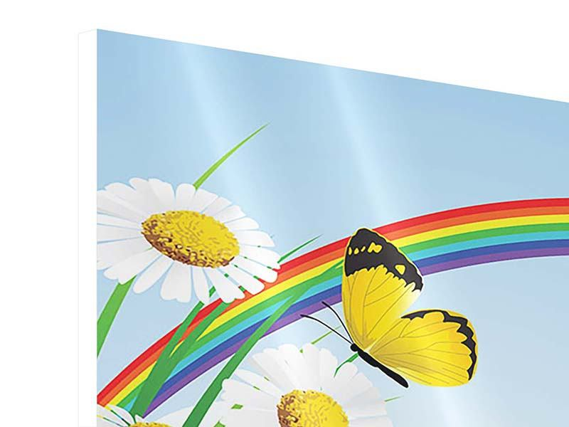 Panoramic 3 Piece Forex Print The Colorful Rainbow