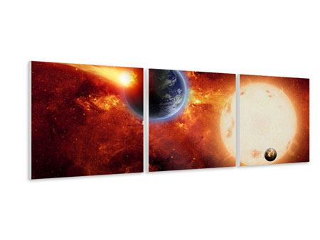 Panoramic 3 Piece Forex Print The Cosmos