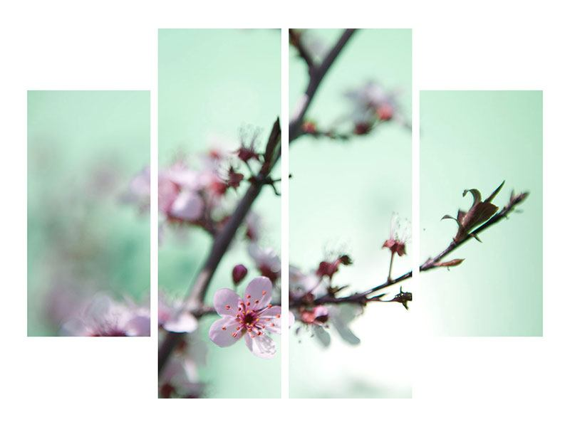 4 Piece Forex Print Beautiful Japanese Cherry Blossom