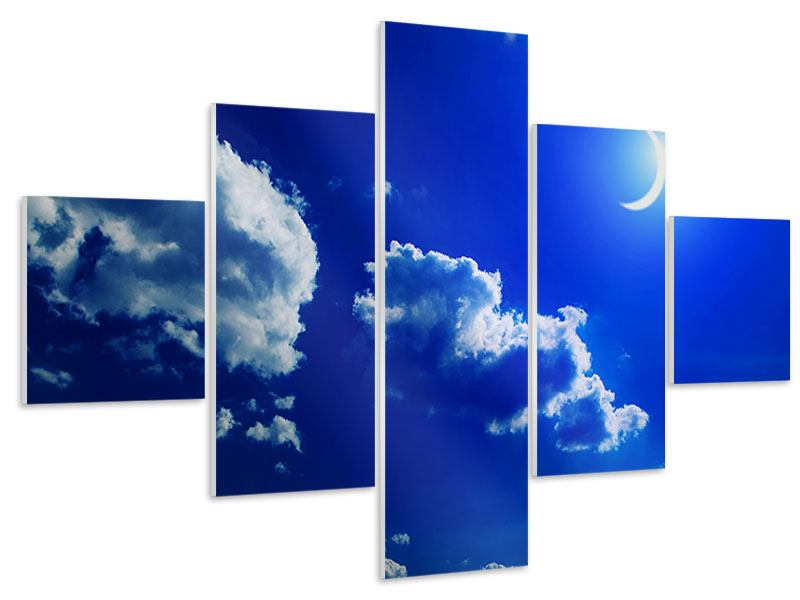5 Piece Forex Print The Moon