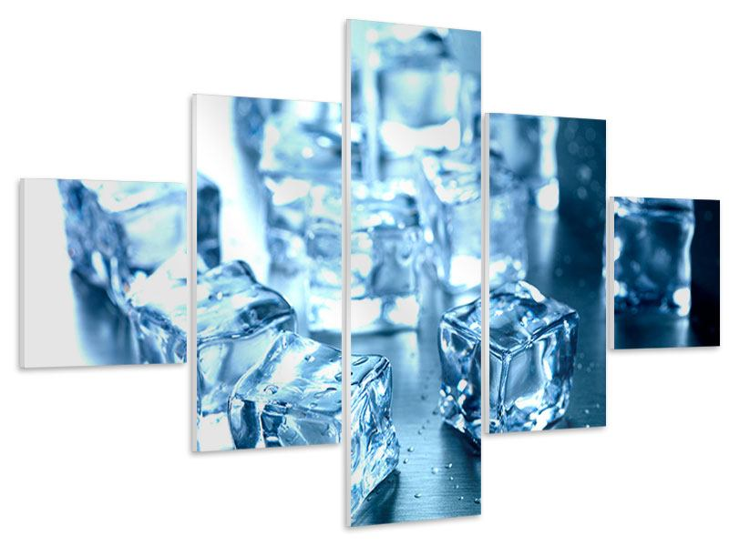 5 Piece Forex Print Many Ice Cubes