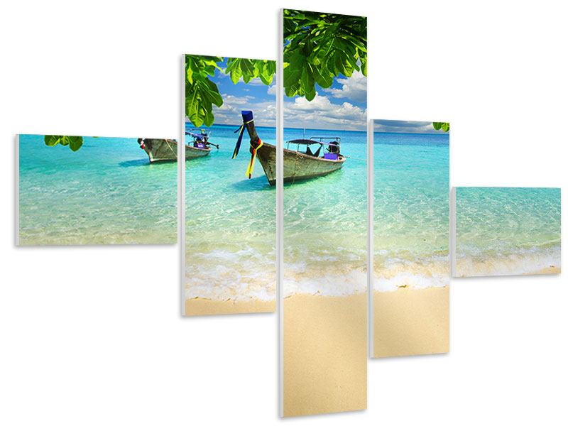 Modern 5 Piece Forex Print A View Of The Sea