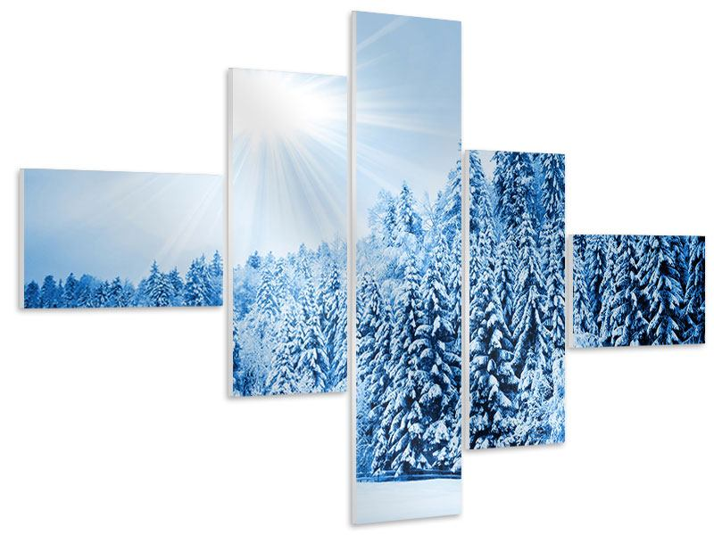 Modern 5 Piece Forex Print Winter Fairytale