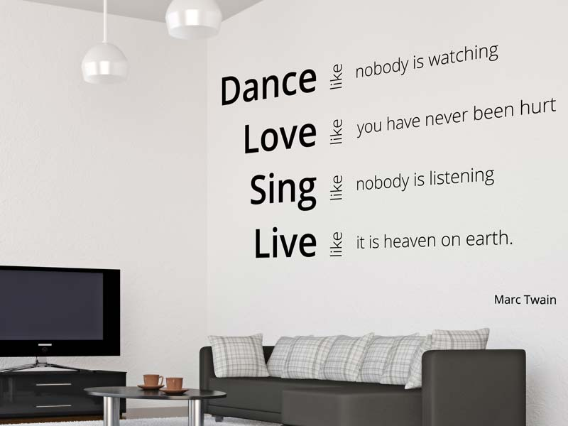 Wall Sticker Dance, Love, Sing, Live