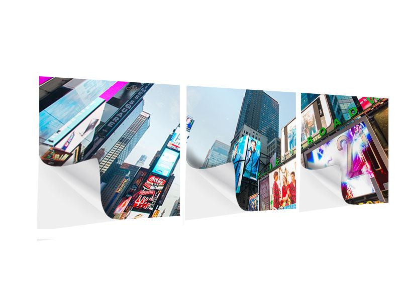 Poster autoadesivo 3 pezzi Panoramica Shopping a New York