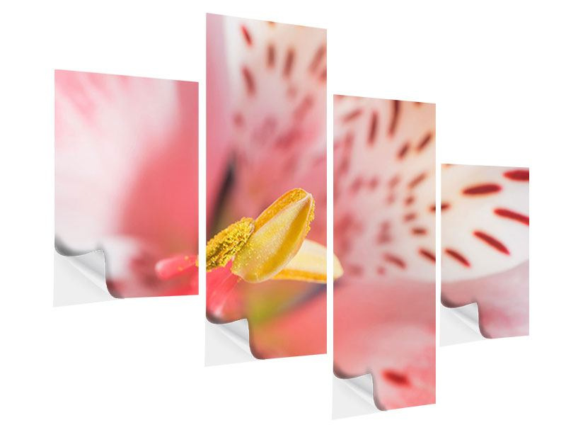 Modern 4 Piece Self-Adhesive Poster Lilies Stamp