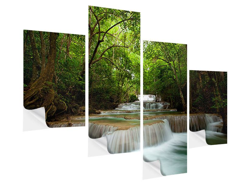 Modern 4 Piece Self-Adhesive Poster The 7 Steps