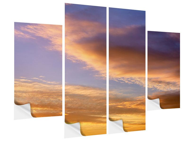 4 Piece Self-Adhesive Poster Heavenly