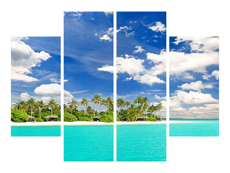 4 Piece Self-Adhesive Poster My Island